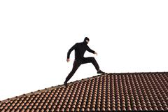 Thief on the roof Stock Photos