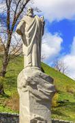 St Andrew Statue Patron Saint  Kiev Ukraine Stock Photos