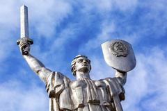World War 2 Victory Motherland Soviet Monument Kiev Ukraine Stock Photos