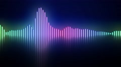 Audio frequency monitor sound wave Stock Footage