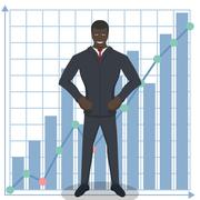 Business theme illustration. Young businessman knows how to do business. Stock Illustration