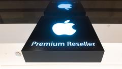 Apple Premium Reseller sign in Suria KLCC mall, Kuala Lumpur Stock Photos