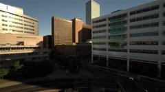 Denver CO Aerial, Civic Center Park, Voorhies Memorial Stock Footage