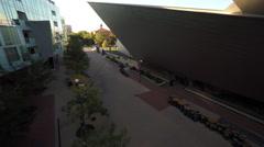 Denver CO Aerial, Denver Art Museum Stock Footage