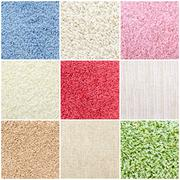 Set of colorful carpet samples Stock Photos