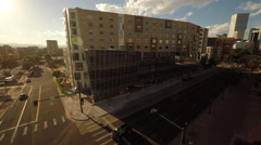 Denver CO Aerial, History Colorado Center Stock Footage