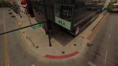 Denver CO Aerial, Museum of Contemporary Art Stock Footage
