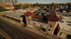 Denver CO Aerial, Ogden Theatre Stock Footage