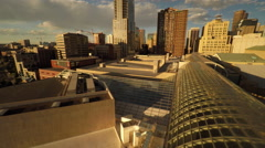 Denver CO Aerial, Performing Arts Complex Stock Footage