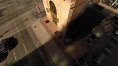 Denver CO Aerial, Lannie's Clocktower, rising Stock Footage