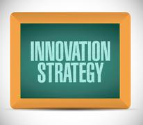 Innovation Strategy chalkboard isolated sign Stock Illustration