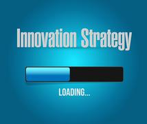 Innovation Strategy loading bar isolated sign Stock Illustration