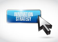 Innovation Strategy button isolated sign concept Stock Illustration