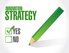 Innovation Strategy approval sign concept Stock Illustration