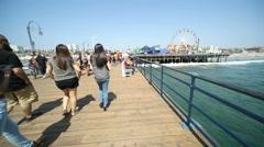 Santa Monica Pier Slow Motion Arkistovideo