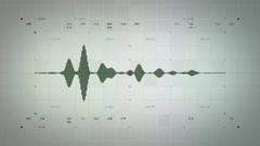 4K Audio Waveform Mono Green Lite Stock Footage