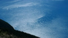 Sparkling blue lake surface Stock Footage