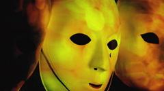Masks scary bonfire sparkles bokeh burst Arkistovideo