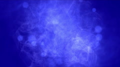 4k Smoke gas cloud fume mist dots particles fireworks background. Stock Footage