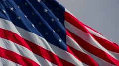 The American flag blowing in the wind, Stock Footage