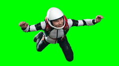 Exhilarated Skydiver Flying Slowmo Stock Footage