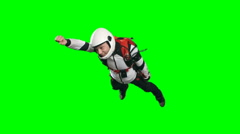 Superhero Skydiver in Free Fall Stock Footage