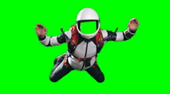 Skydiver in Free Fall No Face Template Stock Footage