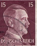 GERMANY - CIRCA 1942: A stamp printed in Germany shows portrait of Adolf Hitler Kuvituskuvat