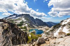 Alpine lake Stock Photos