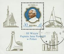 POLAND, circa 1987: postage stamp printed in Poland showing an image of John Stock Photos