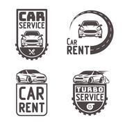 Automotive Car rent repair Logo Template Design Vector Stock Illustration