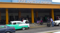 Establishing shot of the Jose Marti International Airport in Havana, Cuba. Stock Footage