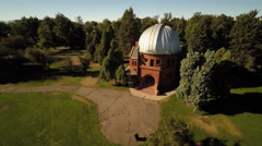 Denver CO Aerial, Chamberlin Observatory, partial orbit Stock Footage