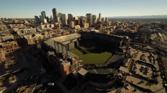 Denver CO Aerial, Coors Field Stock Footage