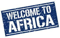 Welcome to Africa stamp Stock Illustration