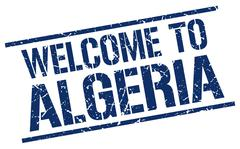 Welcome to Algeria stamp Stock Illustration