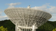 Time lapse radio telescope move close Stock Footage