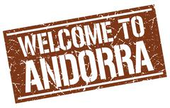 Welcome to Andorra stamp Stock Illustration