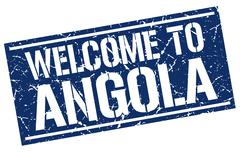 Welcome to Angola stamp Stock Illustration