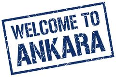 Welcome to Ankara stamp Stock Illustration