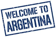 Welcome to Argentina stamp Stock Illustration