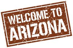 Welcome to Arizona stamp Stock Illustration