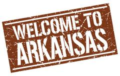 Welcome to Arkansas stamp Stock Illustration