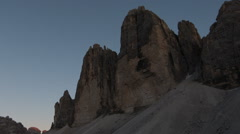 Sunset time lapse tre cime de lavaredo paternkofel speedmove Stock Footage