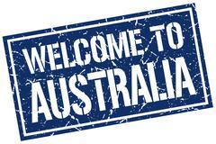 Welcome to Australia stamp Stock Illustration