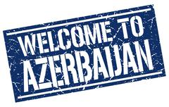 Welcome to Azerbaijan stamp Stock Illustration