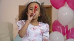 Birthday of Little Princess Stock Footage
