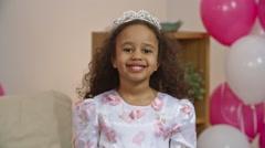 Happy Little Princess Stock Footage