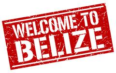 Welcome to Belize stamp Stock Illustration