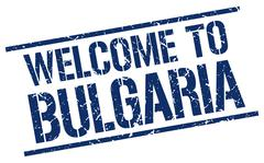 Welcome to Bulgaria stamp Piirros